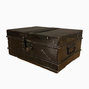 Vintage Black Metal Storage Box from James Raing & Co