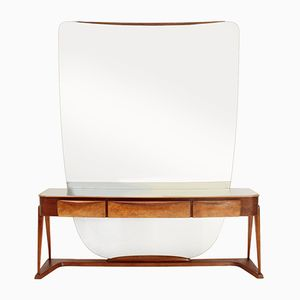 Italian Console with Large Mirror, 1950s