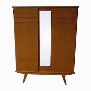 Vintage Kleiderschrank mit Spiegel und Zwei Türen