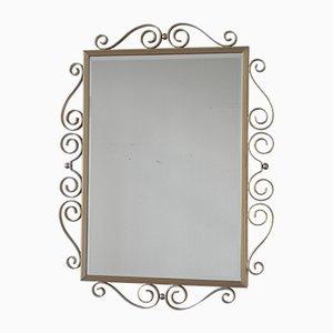 Vintage Spiegel mit Aluminium Rahmen