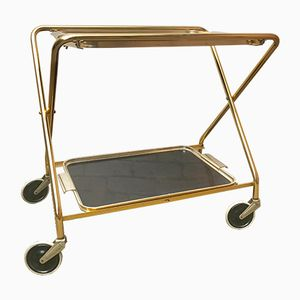 Vintage Folding Drinks Trolley on Wheels from Woodmet Limited