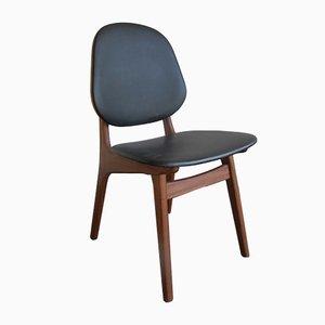 Dänischer Vintage Beistellstuhl aus Teak & Schichtholz von Hovmand Olsen
