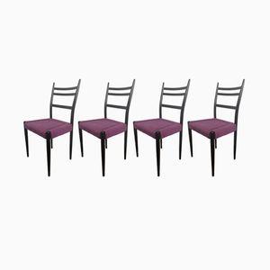Schwarz Lackierte Mid-Century Librenza Esszimmerstühle von G-Plan, 1950er, 4er Set