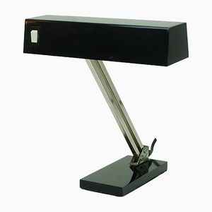 Lampada da tavolo in nichel nero di Pfäffle, anni '60