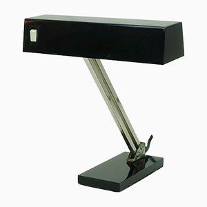 Tischlampe aus Schwarzem Nickel von Pfäffle, 1960er