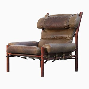 Vintage Swedish Safari Armchair by Arne Norell