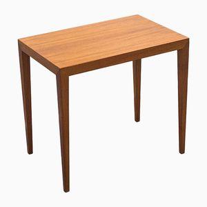 Vintage Teak Veneered Side Table by Severin Hansen Jr. for Haslev Møbelsnedkeri