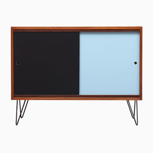 Sideboard in Walnut Veneer with Colored Reversible Doors, 1960s