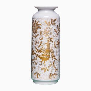 Vase Vintage Doré & Blanc de Rosenthal