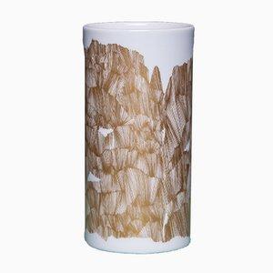 Vase Vintage Doré et Blanc de Rosenthal