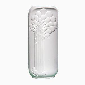 Weiße Vase von Manfred Frey für Kaiser-Porzellan, 1970er