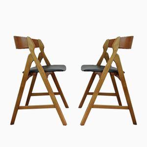 Vintage Esszimmerstühle von Henning Kjærnulf für Boltings Stolefabrik, 2er Set