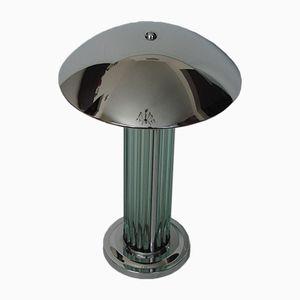 Lampada in acciaio cromato e vetro, anni '60