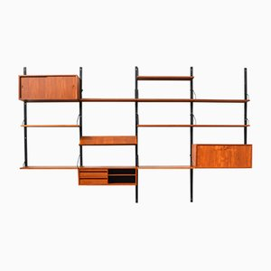 Danish Mid-Century Royal Wall Unit in Teak by Poul Cadovius for Cado