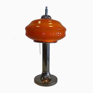 Space Age Mushroom Tischlampe aus Opalglas von Gaivota, 1970er