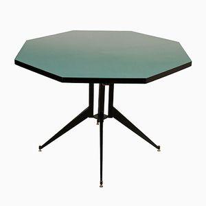 Italienischer Vintage Tisch aus Metall & Holz