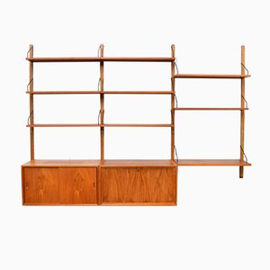 Mid-Century Wall Unit in Teak by Poul Cadovius for Cado