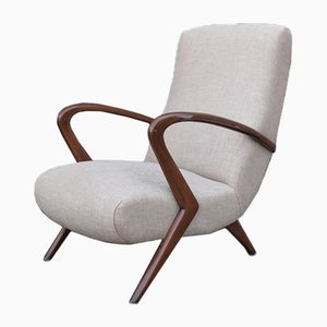 Italienischer Mid-Century Sessel aus Buche