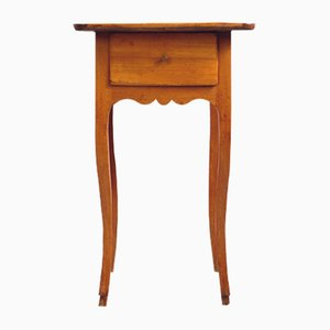 French Baroque Side Table in Solid Cherry, 1750s