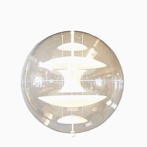 Lampada sferica in vetro opalino di Verner Panton per Verpan, anni '80