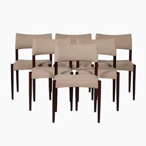 Stühle aus Palisander & Wolle von Aksel Bender Madsen & Ejner Larsenin, 1960er, 6er Set