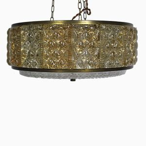 Danish Mid-Century Glass Chandelier from Vitrika, 1960s