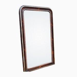 Specchio da parete antico in vetro mercurizzato