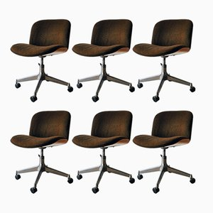 Mid-Century Office Chairs by Ico Parisi for MIM Design, Set of 6