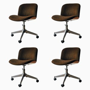 Mid-Century Office Chairs by Ico Parisi for MIM Design, Set of 4