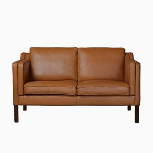 Danish Leather Two-Seater Sofa by Mogens Hansen for Mh Mobler Factory