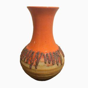 West German Fat Lava Floor Vase by Jasba, 1960s