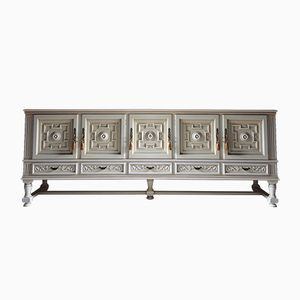 Vintage Large French Painted Sideboard
