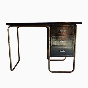 Tubular Steel Desk by Michael Thonet for Thonet, 1930s