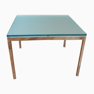 Tisch aus Glas & Chrom von Florence Knoll Bassett für Knoll Inc. / Knoll International, 1954