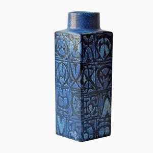 Blaue Skandinavische Mid-Century Baca Vase von Nils Thorsson für Royal Copenhagen