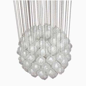 Large Tulipan Crystal Glass Chandelier by J.T Kalmar for Kalmar, 1960s