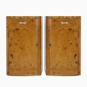 Mid-Century Burl Side Tables from Wesply, Set of 2