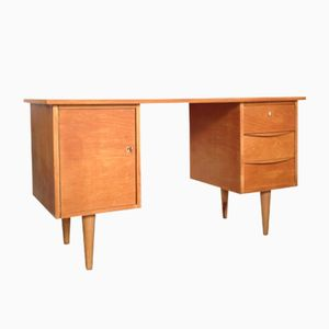 Desk with Cabinet and Drawers, 1950s