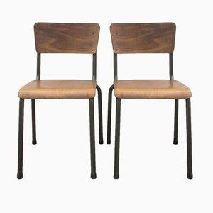 Belgian Industrial Chairs, 1950s, Set of 2