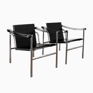 LC1 Sessel von Le Corbusier, Pierre Jeanneret & Charlotte Perriand für Cassina, 1960er