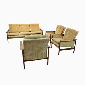 Set da salotto in teak di L.K. Hjelle Møbelfabrikk, anni '50, set di 4