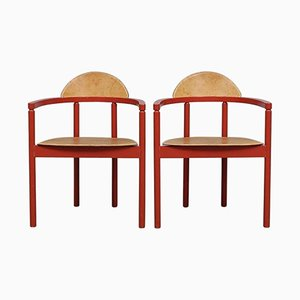 Chaises en Cuir de Karl Andersson & Söner, 1950s, Set de 2