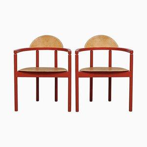 Sedie in pelle di Karl Andersson & Söner, anni '50, set di 2