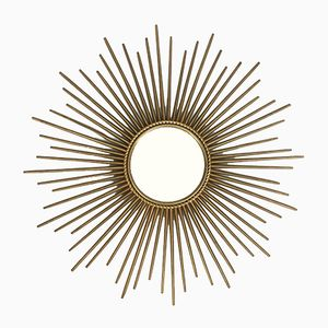 French Sun Shaped Mirror from Chaty Vallauris, 1950s