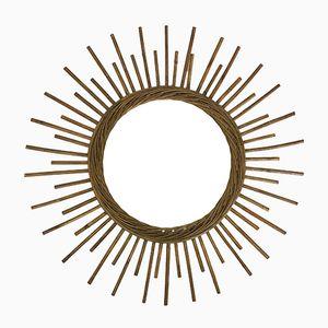 Sun Shaped Bamboo Mirror, 1960s