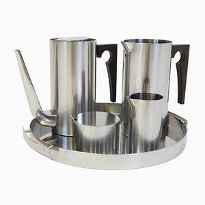 Tee Set aus Cylinda Serie von Arne Jacobsen für Stelton, 1967