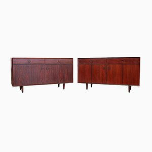 Vintage Danish Rosewood Cabinets by E. Brouer for Brouer, Set of 2