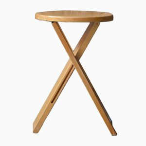 Vintage Folding Stool by Roger Tallon for Sentou