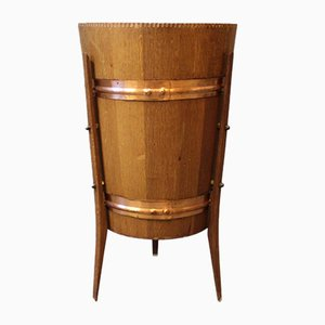 Danish Wine Cooler in Teak and Copper, 1960s