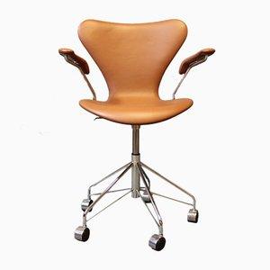 Sedia da ufficio modello 3217 Seven di Arne Jacobsen per Fritz Hansen, anni '80